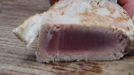 How (Not) To Grill A Tuna Steak On A Salt Plank