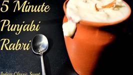 5 Minute Punjabi Rabri Microwave