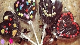 How to Make Heart Shaped Chocolate Lollipop for Valentine's Day