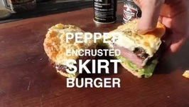 Paradise Pepper Encrusted Skirt Steak Burger