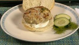 Game On! Greek Turkey Burger