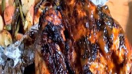 Buttermilk Brined Chipotle Chicken with Peach Barbecue Sauce