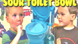 Super Sour Candy Toilet Bowl Flush with Plungers Taste Test Kids Candy Review