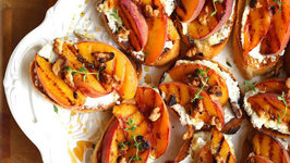 Appetizer - Grilled Peach Bruschetta