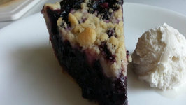 Cast Iron Blueberry Pie - Easy Blueberry Pie Recipe On a Weber Grill With The Kettle Q