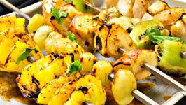 Grilled Fruit Chaat Recipe - Vegetarian Tandoori Recipes at Home