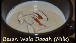 Besan Doodh- Traditional Punjabi drink- Sweet Milk Drink As Desi Cure For Cold