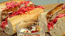 Sausage And Winter Slaw Sandwich