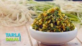 Hare Lehsun Ki Subzi, Recipe In Hindi