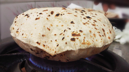 Soft Roti- Fulka - Chapati Recipe With And Without Gas Flame - Puff Roti in a Skillet or Tawa