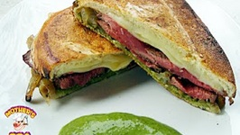 Flat Iron Steak Sandwich With Chimichurri Sauce  Island GrillStone
