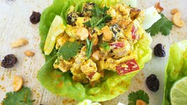Lunch Recipe- Curried Chicken Salad Lettuce Wraps
