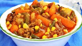 Crock Pot Ground Beef Casserole