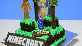 How to make Minecraft World Cake