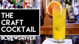 Easy Vodka Cocktail-The Screwdriver - The Craft Cocktail