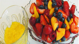 Betty's Fresh Fruit Salad with Marshmallow Custard Sauce