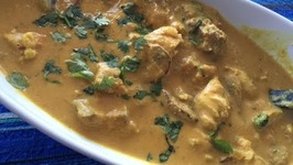 How to make Chicken Mushroom Korma in Coconut Gravy  Indian Chicken Curry