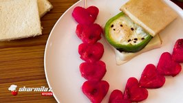 Capsicum Egg Sandwich & Watermelon Skewers  Breakfast Platter  Kids Friendly