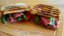 Cracking Steak Sandwich