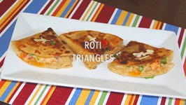 Left Over Roti Cheesy Masala Triangles