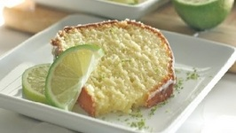 Homemade Glazed Lime Pound Cake Recipe