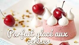 Glace maison sans sorbetière : parfait glacé aux cerises
