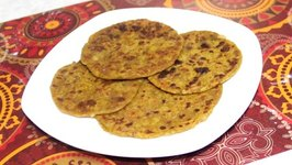 Farali Aloo Paratha For Upvas Vrat / Indian Fasting Potato Bread / Gluten Free/ Vegan