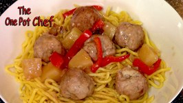 Sweet and Sour Meatballs  One Pot Chef