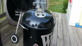 Pulled Pork On The Mini WSM - Easy Pork Butt Recipe On The Mini Weber Smokey Mountain