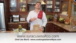 Syracuse Salt Company Natural Sea Salt Cooking Italian with Joe
