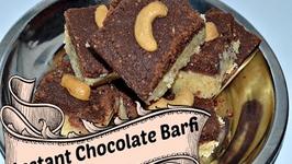 Instant Chocolate Barfi from Milk Powder