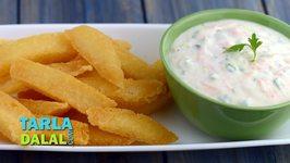 Fried Idlis with Curd Dip