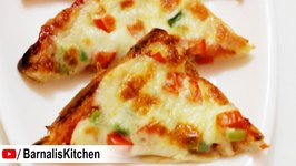 Bread pizza -Quick Bread Pizza -Vegetable Bread Pizza - Quick and Easy Pizza
