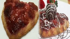 Sexy Dessert for Romantic Moment - Strawberry Upside Down Cake Valentine