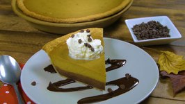 Simple Chocolate Pumpkin Pie