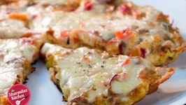 Cheesy Fusion Frittata By Sharmilazkitchen (Italian Fried Omelette with vegetables & Cheese)