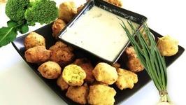 Broccoli Corn Flour Fritters Video