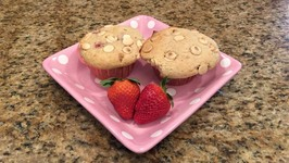 Strawberry White Chocolate Chip Coffee Cake Muffins - Mother's Day