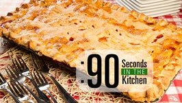 90 Second Strawberry Rhubarb Slab Pie