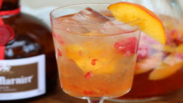 Peach and Raspberry Rose Sangria