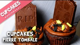Cupcakes Pierre tombale tout chocolat !