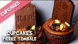 Cupcakes Pierre tombale tout chocolat !