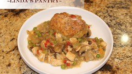 Retro Chicken and Biscuit Bake With Linda's Pantry