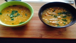 Tasty Gluten Free Vegan Soup Brown Rice and Chickpeas