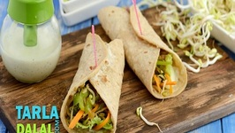 Bean Sprouts & Veggie Wrap (Protein Rich Recipe for Pregnancy)
