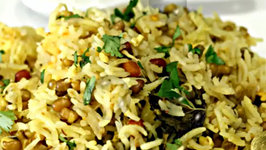 Sprouts and Paneer Pulao - Protein Packed One Pot Meal