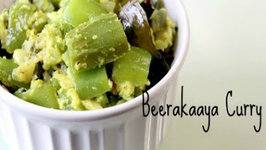 Beerakaaya Curry - Ridge gourd with Milk and Indian Spices - Five Spice Cooking