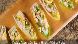 Endive Boats with Fresh Mango Chicken Salad