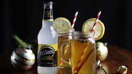 Hot Toddy With Apple Cider And Bourbon