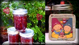 Organic Strawberry Vanilla Jam - Perfect Christmas Gift  Canned in Power Pressure Cooker XL